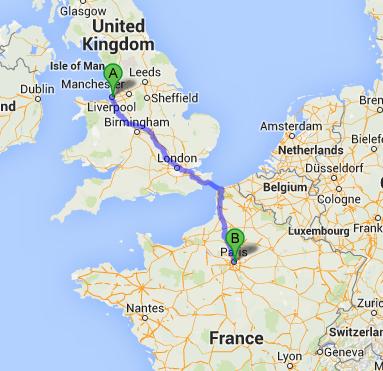 Liverpool to Calais to Paris Tom Shed