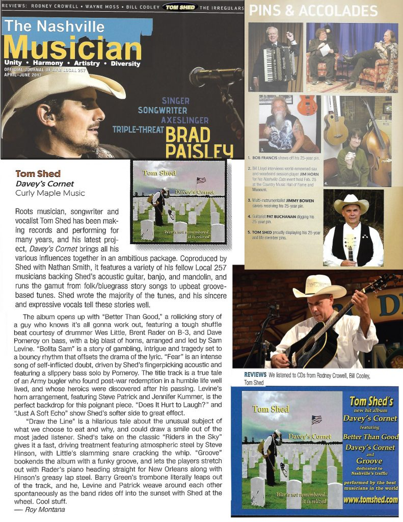 Tom Shed - Nashville Musician magazine